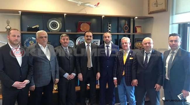Kuyiad'Yönetimi DDK Başkanı Yunsu Arıncı'yı ziyaret etti
