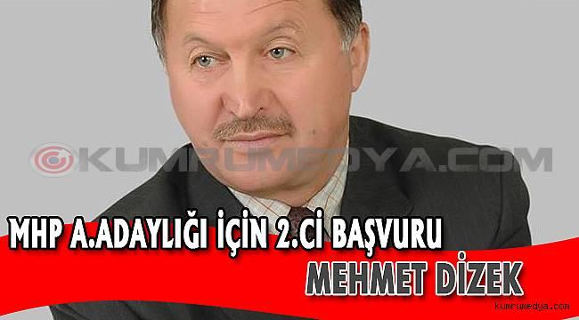 Milliyetçi Hareket Partisinden Aday Adaylığını Açıklayan 2 Kişi Mehmet DİZEK oldu..